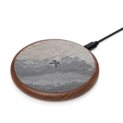 Woodcessories EcoPad Stone Wireless Qi Ladestation