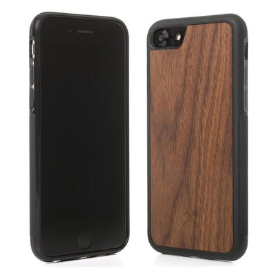 Woodcessories EcoBump Walnuss/Schwarz für iPhone 7/8