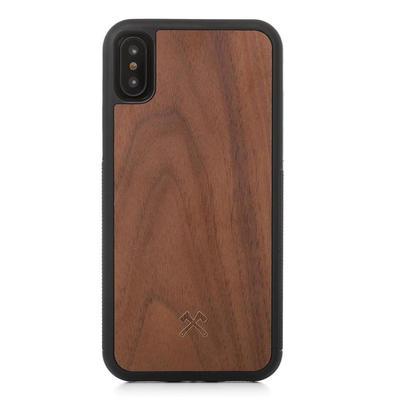 Woodcessories EcoBump noyer/noir pour iPhone X/XS