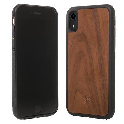 Woodcessories EcoBump Walnuss/Schwarz für iPhone XR