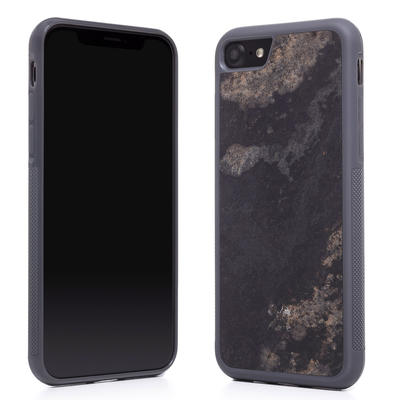 Woodcessories Stone Edition EcoBump Camo Gray für iPhone 7/8