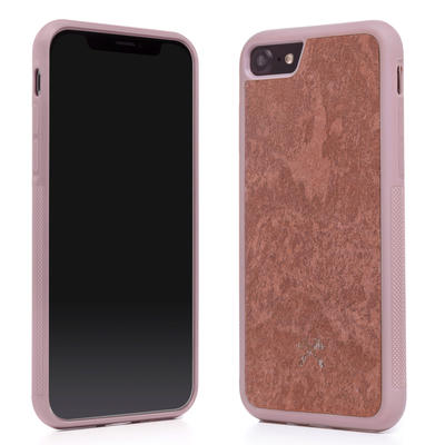 Woodcessories Stone Edition EcoBump Canyon Red für iPhone 7/8