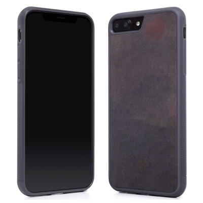 Woodcessories Stone Edition EcoBump Volcano Black für iPhone 7/8 Plus