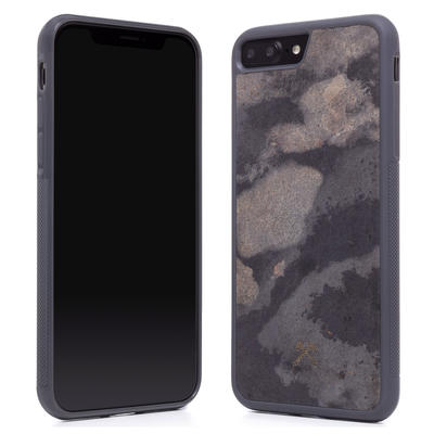 Woodcessories Stone Edition EcoBump Camo Gray für iPhone 7/8 Plus