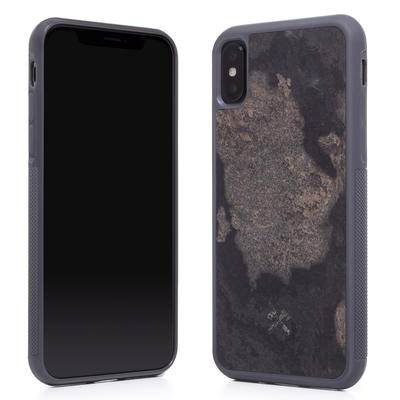 Woodcessories Stone Edition EcoBump Camo Gray für iPhone X/XS