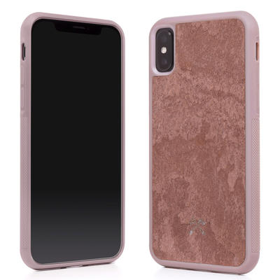 Woodcessories Stone Edition EcoBump Canyon Red für iPhone X/XS