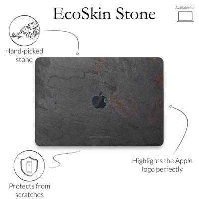 Woodcessories Stone Edition EcoSkin Volcano Black für Macbook 12