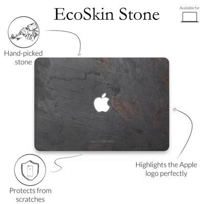 Woodcessories Stone Edition EcoSkin Volcano Black für Macbook 13