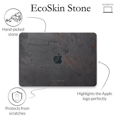 Woodcessories Stone Edition EcoSkin Volcano Black Macbook 13