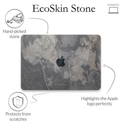 Woodcessories Stone Edition EcoSkin Camo Gray Macbook 13