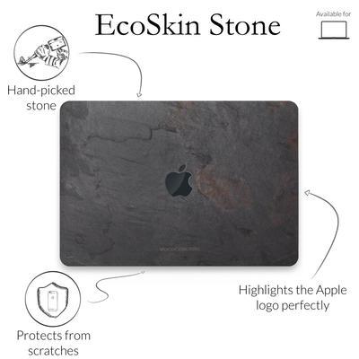 Woodcessories Stone Edition EcoSkin Volcano Black für Macbook 15