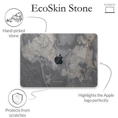 Woodcessories Stone Edition EcoSkin Camo Gray für Macbook 15