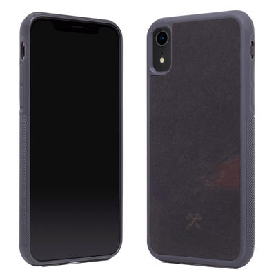 Woodcessories Stone Edition EcoBump Volcano Black für iPhone XR