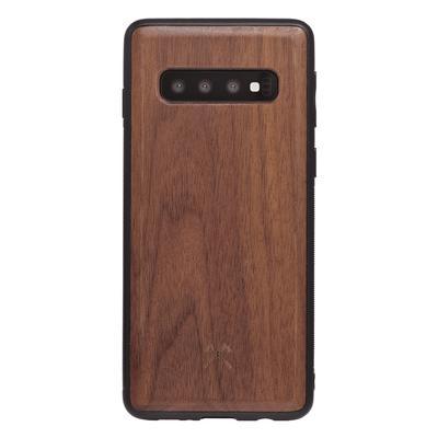 Woodcessories EcoBump noyer/noir pour Samsung Galaxy S10