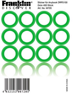 Franklin Anybook Sticker Grün M720, 400er Set
