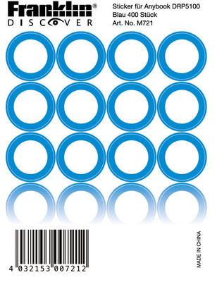 Franklin Anybook Sticker Blau M721, 400er Set