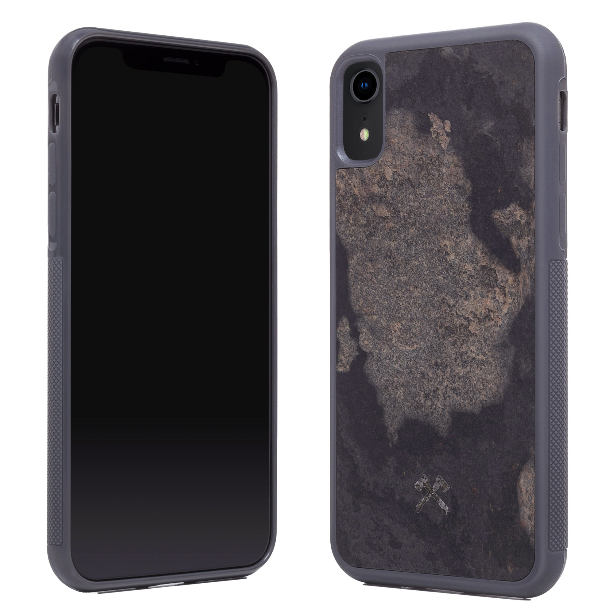 woodcessories stone edition ecobump camo gray f r iphone xr. Black Bedroom Furniture Sets. Home Design Ideas