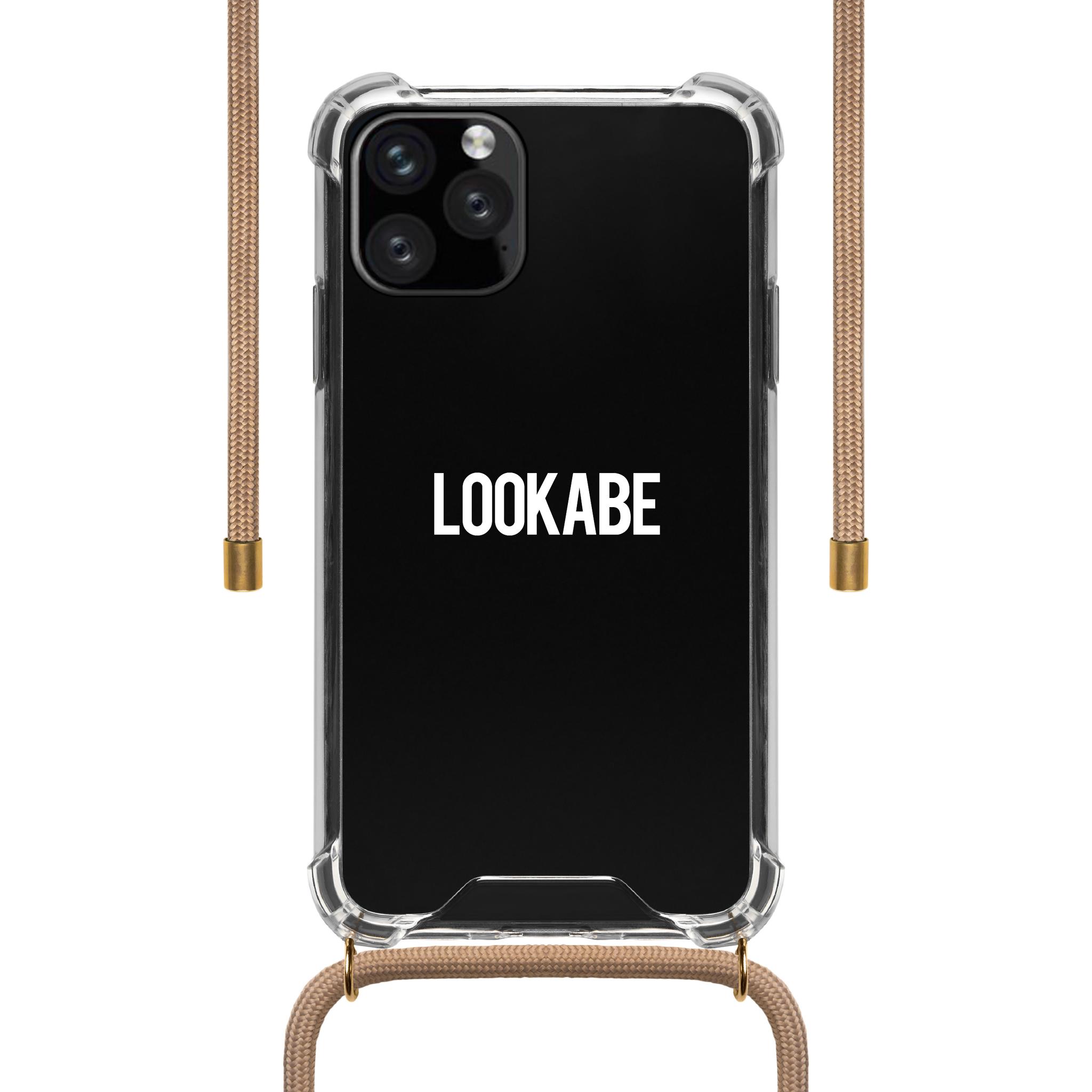 LOOKABE Necklace Case, Handykette für iPhone XS Max, nude
